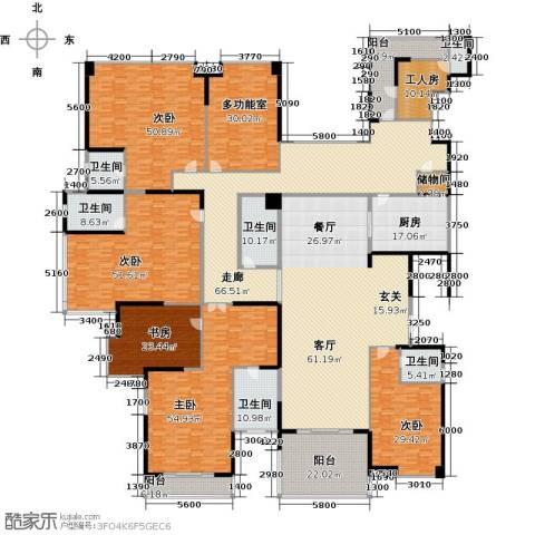 龙泉豪苑5室1厅6卫1厨560.00㎡户型图