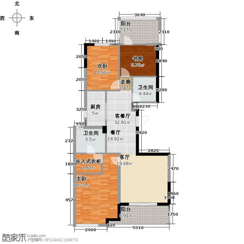 绿城玉园139.00㎡S2户型3室2厅2卫