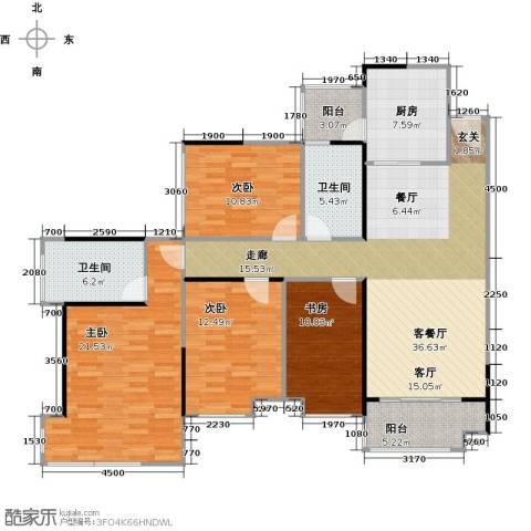 雅居乐锦官城4室1厅2卫1厨128.00㎡户型图