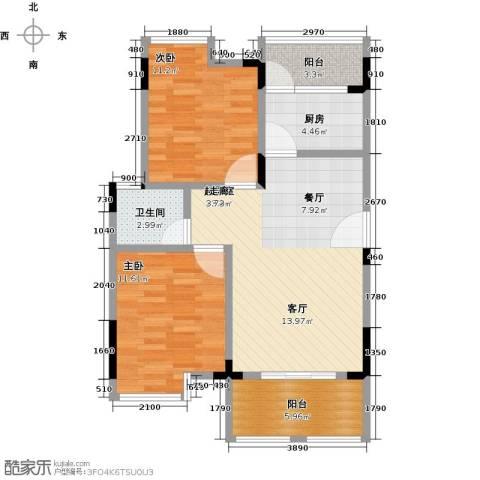 恒产・城市今典2室0厅1卫1厨80.00㎡户型图