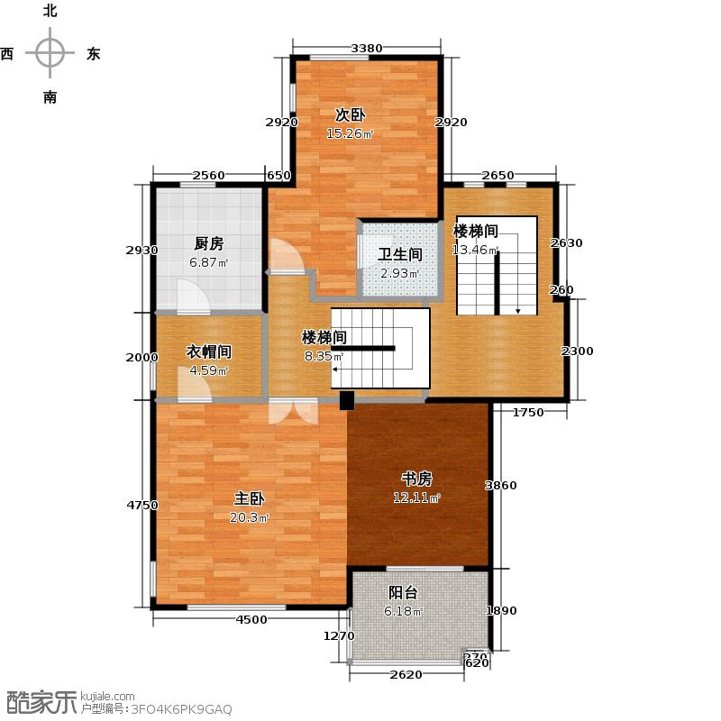 美之国花园96.70㎡B三层户型1室1卫1厨