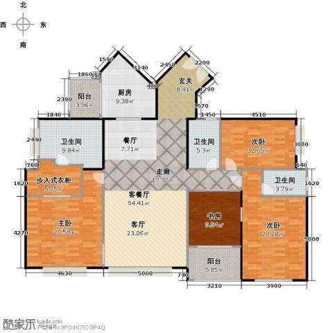 京基滨河时代大厦4室1厅3卫1厨198.00㎡户型图