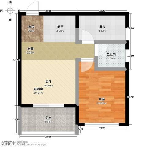 丰都龙景花园1室0厅1卫1厨53.00㎡户型图