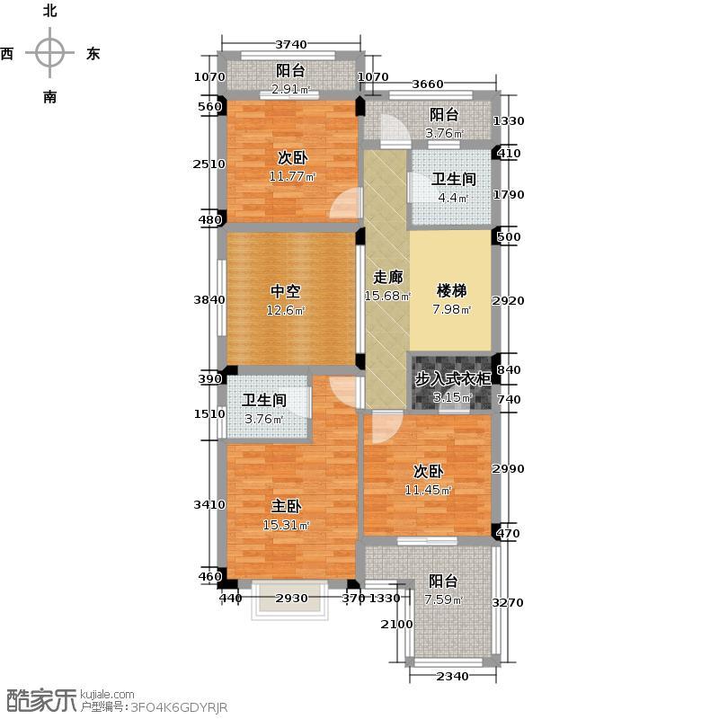 大华西溪风情367.00㎡D三层户型10室