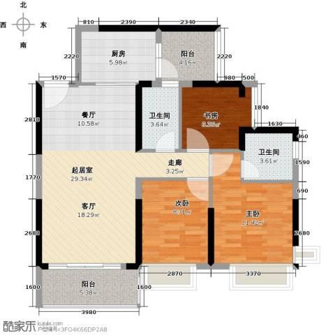 锦绣天伦花园3室0厅2卫1厨94.00㎡户型图