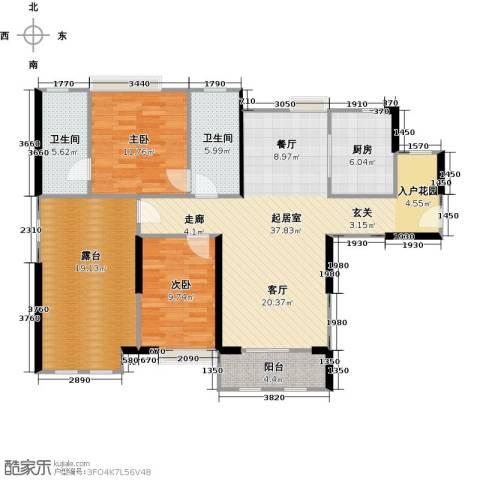 中信观澜凯旋城2室0厅2卫1厨110.00㎡户型图