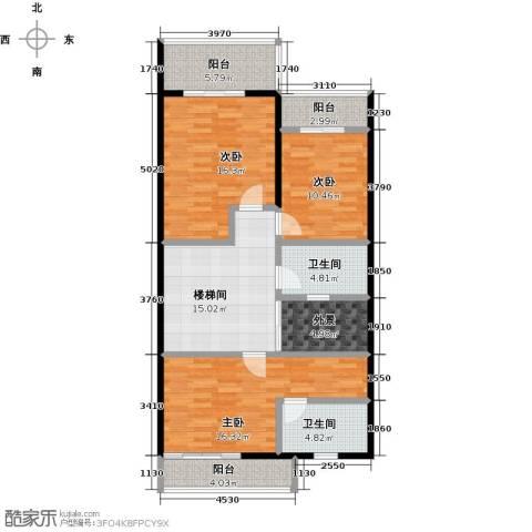 丰泰观山碧水二期3室0厅2卫0厨332.00㎡户型图