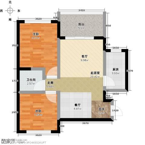 丰都龙景花园2室0厅1卫1厨60.00㎡户型图