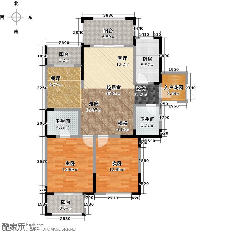 新西湖小镇215.00㎡24号楼和25号楼C复式一层约户型6室2厅4卫