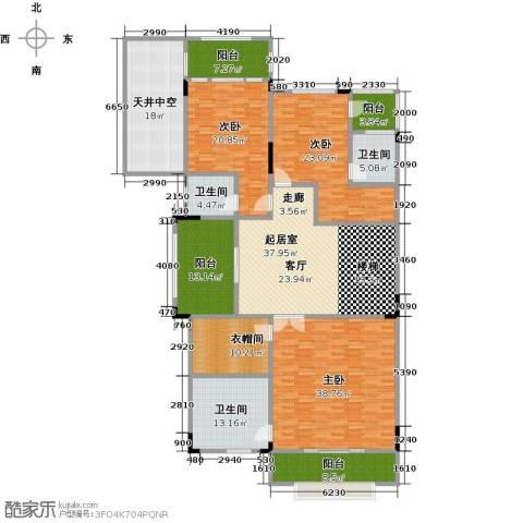 晋愉碧怡林畔东岸3室0厅3卫0厨452.00㎡户型图