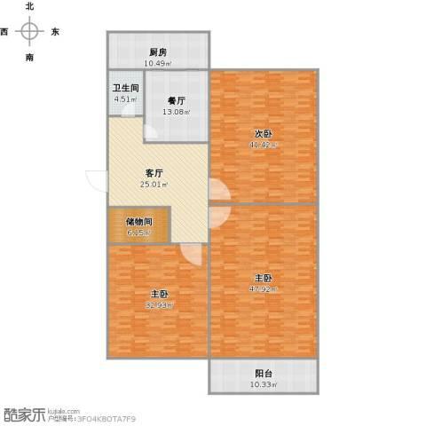 燕子山路单位宿舍3室2厅1卫1厨252.00㎡户型图