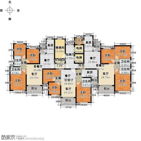 恒大御湖9室3厅5卫3厨439.00㎡户型图