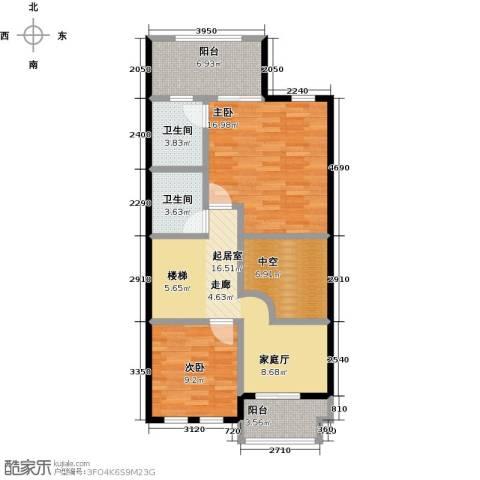 庆隆南山高尔夫国际社区2室0厅2卫0厨97.00㎡户型图
