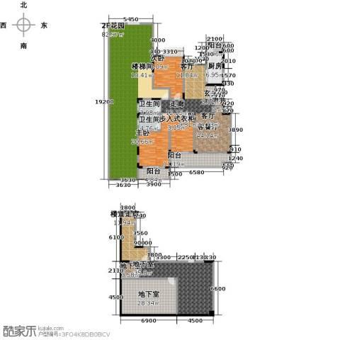 绿地海棠湾3室1厅2卫1厨286.51㎡户型图