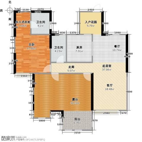 中信观澜凯旋城1室0厅2卫1厨110.00㎡户型图