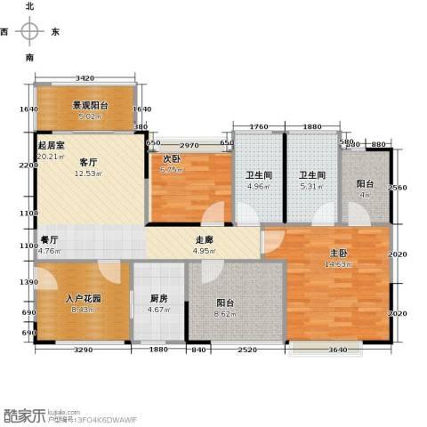 深业东城国际2室0厅2卫1厨89.00㎡户型图
