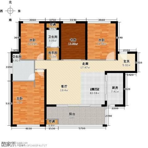 万科金域华府三期4室0厅2卫1厨158.00㎡户型图