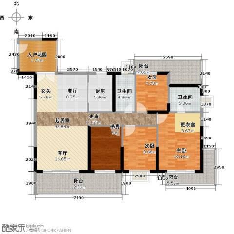 中珠・在水一方4室0厅2卫1厨183.00㎡户型图