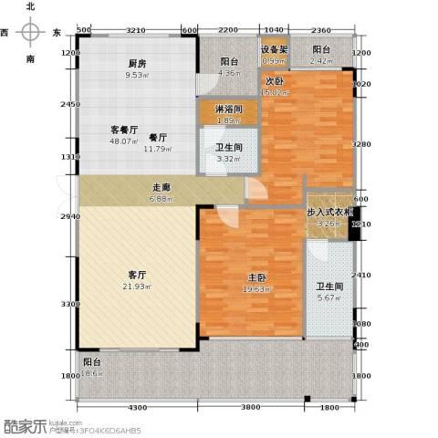 万联・晋海2室1厅2卫0厨134.00㎡户型图