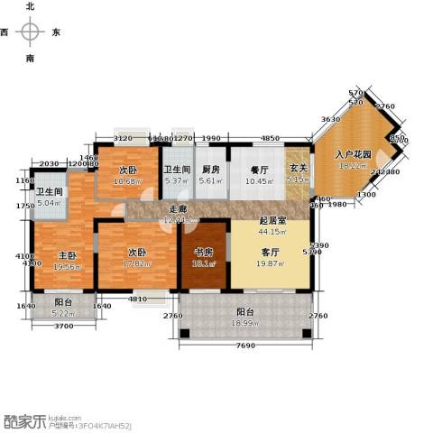 中珠・在水一方4室0厅2卫1厨177.00㎡户型图