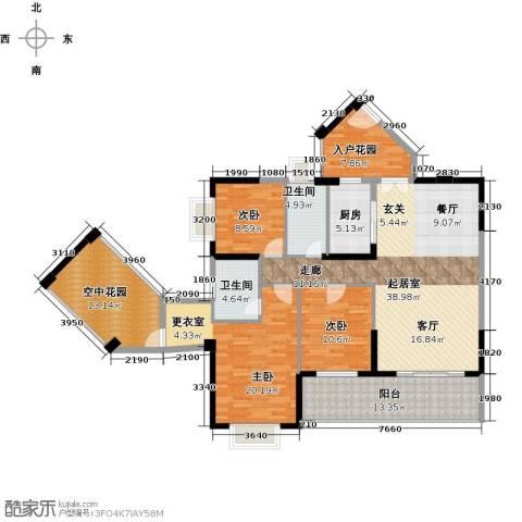 中珠・在水一方3室0厅2卫1厨179.00㎡户型图