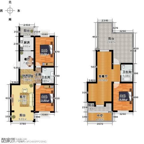 羽丰西江春晓3室1厅2卫1厨157.00㎡户型图