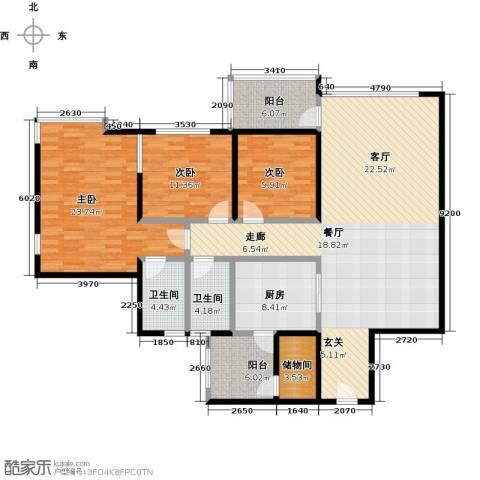 丰泰观山碧水二期3室0厅2卫1厨149.00㎡户型图