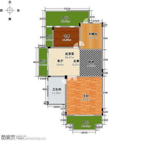晋愉碧怡林畔东岸2室0厅1卫0厨452.00㎡户型图