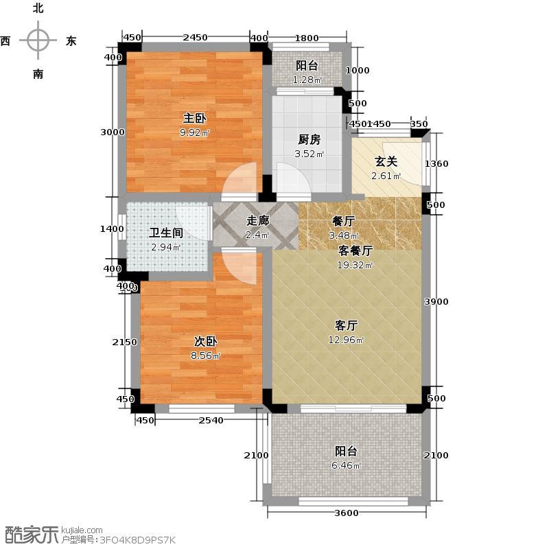 天籁谷国际度假区C赠送庭院户型2室1厅1卫1厨