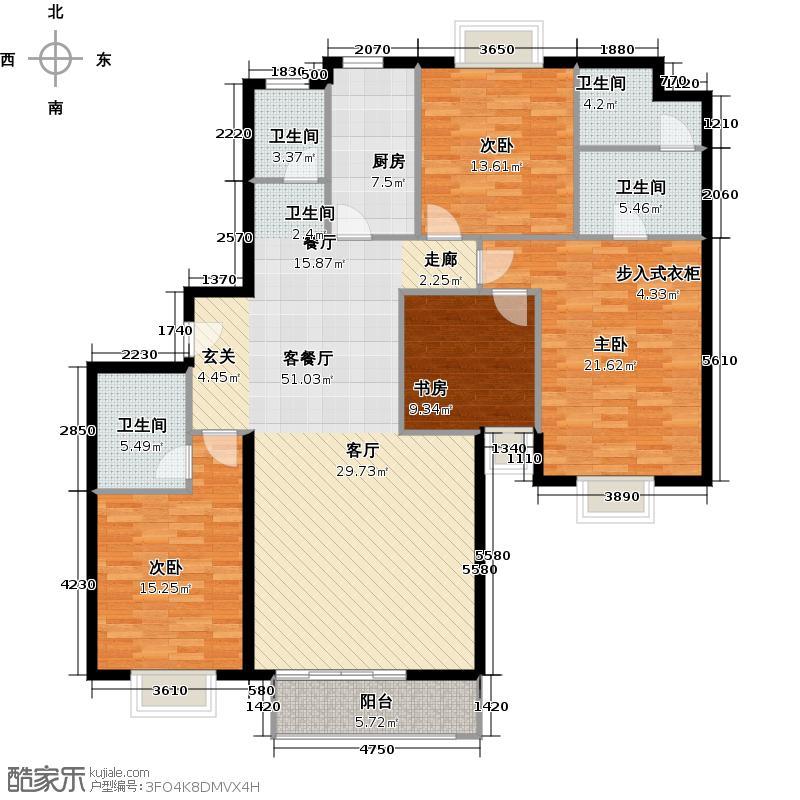 珠江拉维小镇C2户型4室1厅4卫1厨