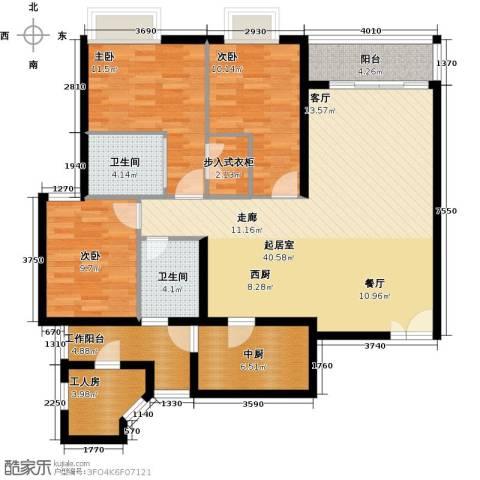 瑞安创逸3室0厅2卫0厨117.00㎡户型图