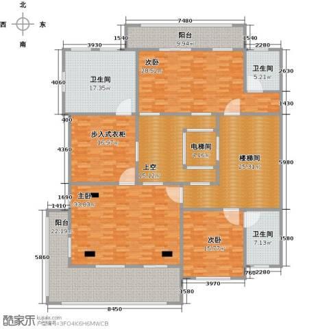 鹏欣一品漫城三期3室0厅3卫0厨226.00㎡户型图