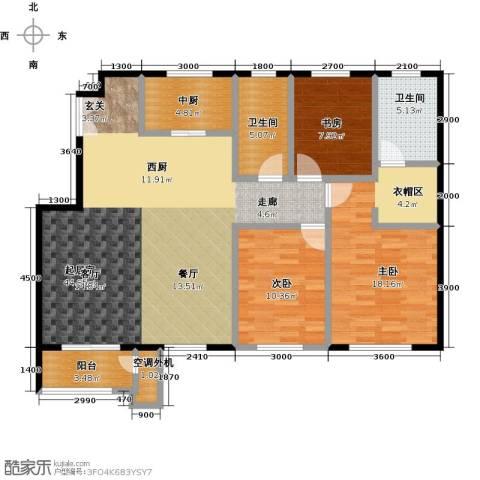 鹭岭3室0厅2卫0厨142.00㎡户型图