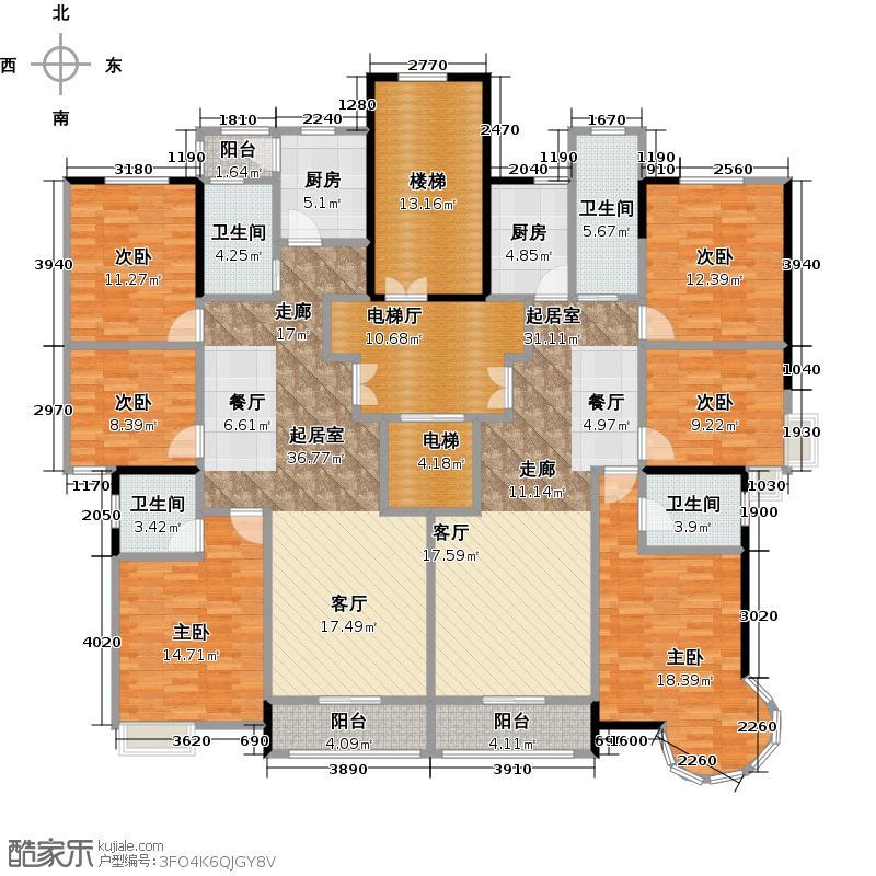 顺发・倾城之恋231.98㎡楼层图2户型10室