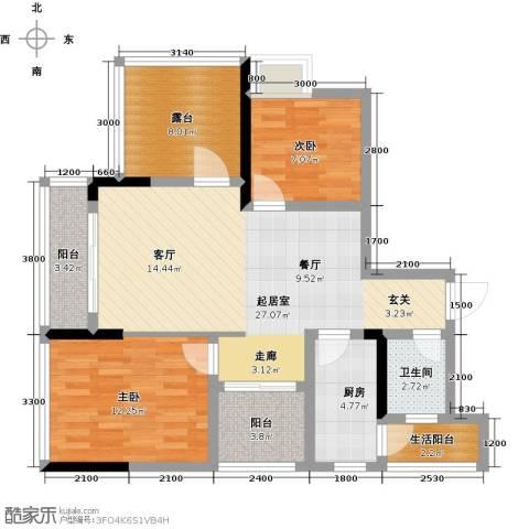 朝兴龙城国际2室0厅1卫1厨105.00㎡户型图