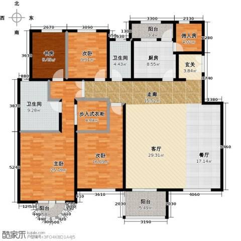 中国铁建・花语城4室0厅2卫1厨196.00㎡户型图