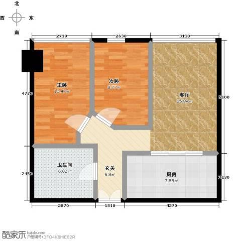 林达海渔广场2室0厅1卫1厨85.00㎡户型图