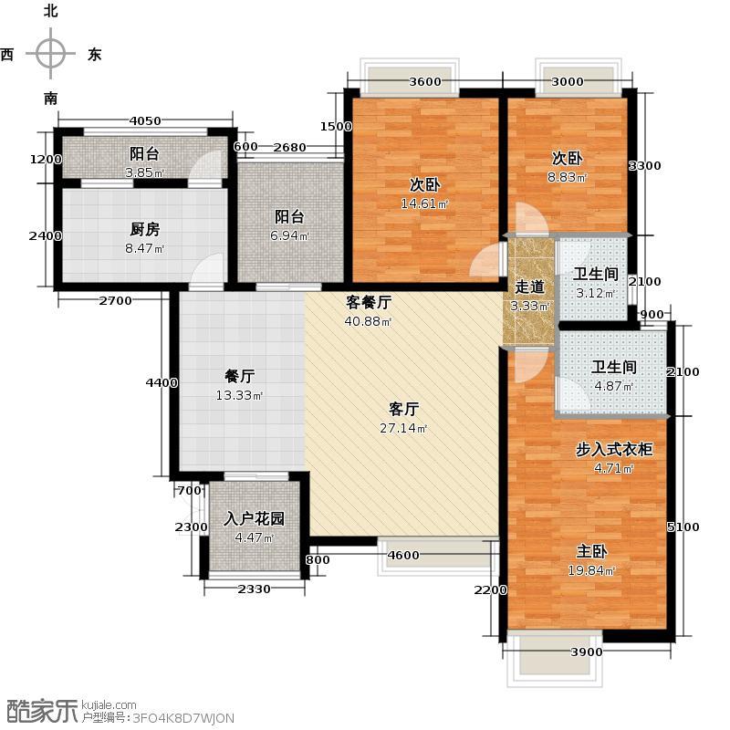 保亿丽景紫园D2-6户型3室1厅2卫1厨