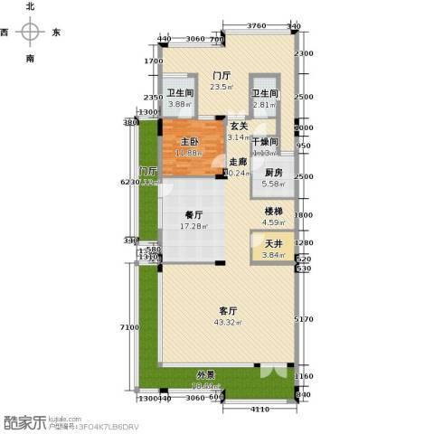 合正东部湾1室1厅2卫1厨212.00㎡户型图