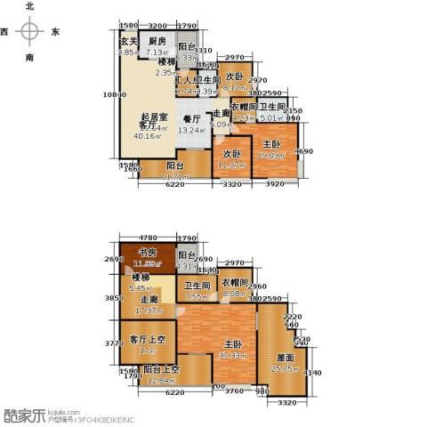 骏逸第一江岸孔雀湾二期5室0厅3卫1厨374.00㎡户型图