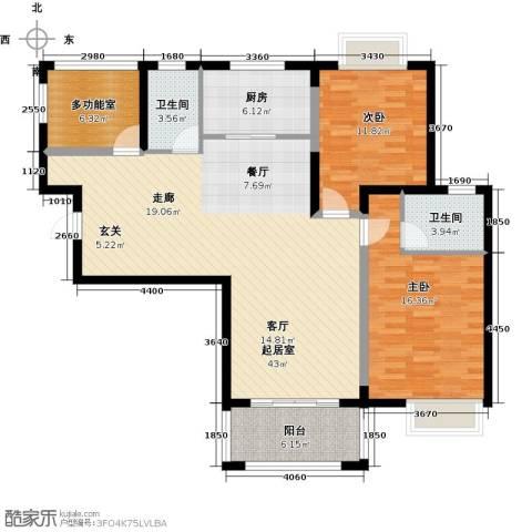荣鼎幸福城2室0厅2卫1厨110.00㎡户型图