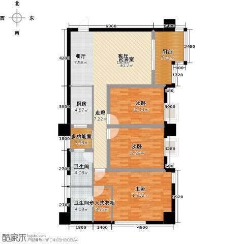 木鱼石水木年华3室0厅2卫1厨105.00㎡户型图