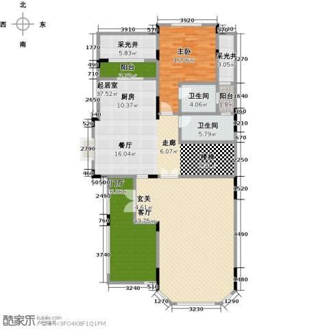 晋愉碧怡林畔东岸1室1厅2卫0厨191.00㎡户型图