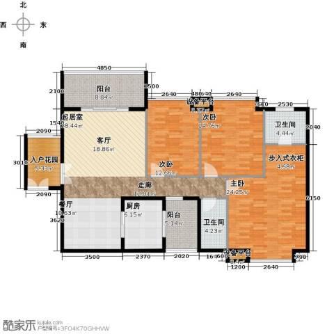 富盈东方华府三期紫峰3室0厅2卫1厨173.00㎡户型图