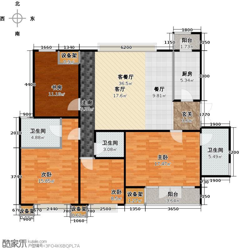 �灞半岛A13-1#D4户型4室1厅3卫1厨