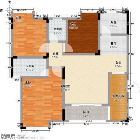恒产・城市今典3室0厅2卫1厨103.00㎡户型图