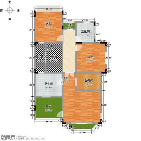 晋愉碧怡林畔东岸3室0厅2卫0厨152.00㎡户型图