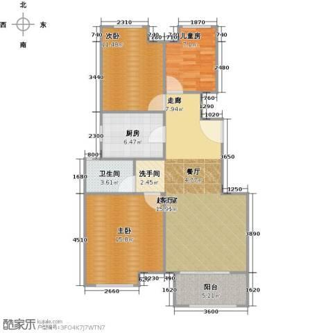 上坤乐城3室0厅1卫1厨85.00㎡户型图