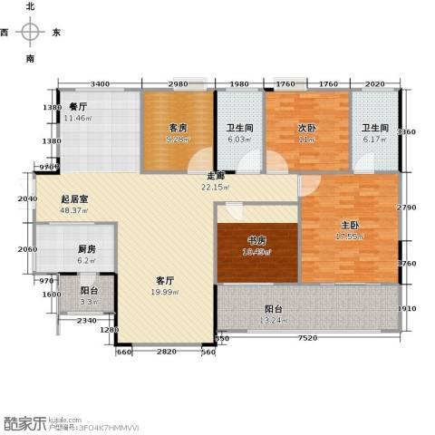 花都颐和山庄3室0厅2卫1厨141.00㎡户型图