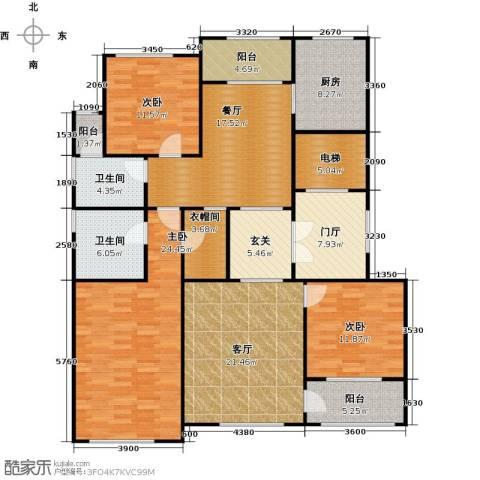 上河湾3室2厅2卫1厨150.00㎡户型图